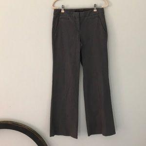 Theory gray silk blend dress pants size 6
